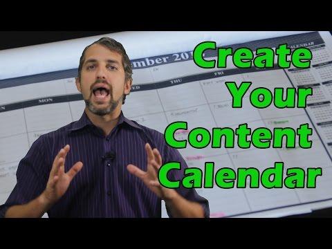 How to make an editorial calendar- content calendar