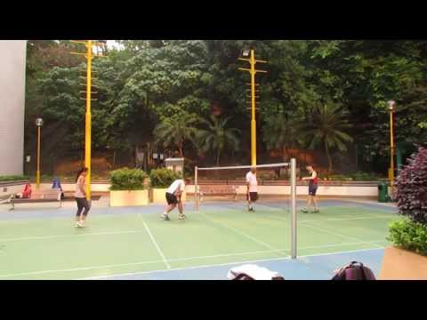 Badminton Match With Friends