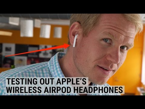 We tested out Apple's wireless AirPod headphones
