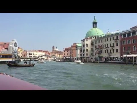 Water Taxi At Train Station Venice