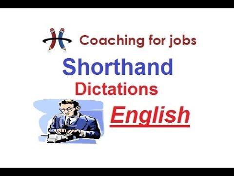 English Shorthand Dictation @ 120 wpm