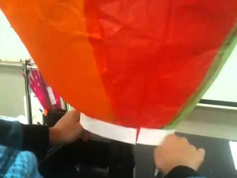 Tissue paper hot air baloon