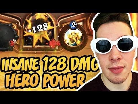 Hearthstone: Insane 128 Dmg Hero Power OTK Combo!
