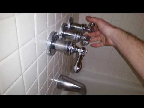 Water Leaking From Tub & Shower Faucets - Old 1987 Valve Stems - Three Handle Fixtures