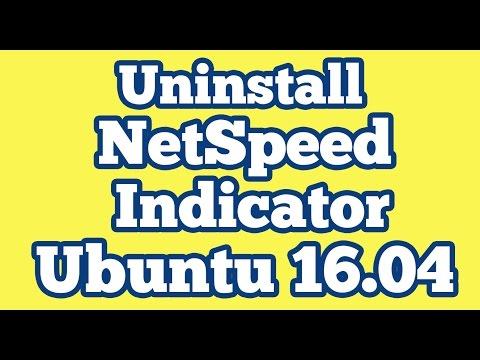 Uninstall Netspeed indicator app from Unity Panel Ubuntu 16.04 || Network Speed
