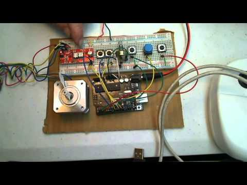 Drive a large stepper motor with an arduino Part 1