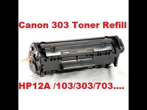 canon 303 toner refilling ,12A /103/303/703