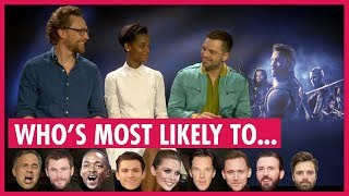 "Tom Hiddleston Leads Avengers Playing ""Who"
