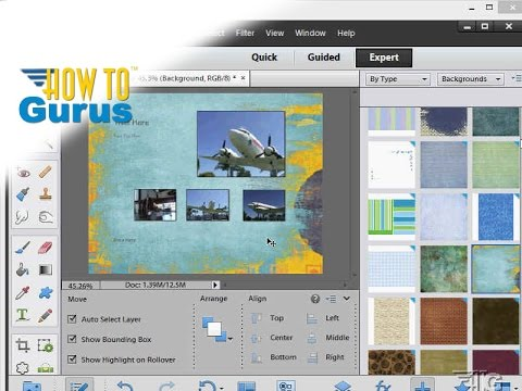 How To Change a Background in Adobe Photoshop Elements 11 12 13 14 15 Effects Tutorial