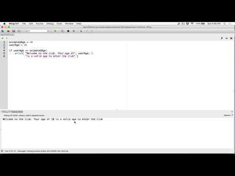 47. if statement, example program - Learn Python