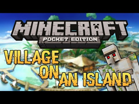 VILLAGE ISLAND SEED! - Minecraft Pocket Edition Seed (Rare Seed!)