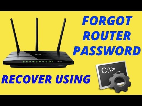 Recover Wifi Router Password using CMD