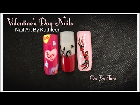 Valentine's Day Nails - Three Designs