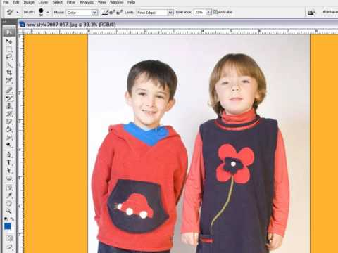 How To Use Color Replacement Tool In Adobe Photoshop CS3