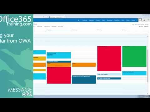 Sharing Your Calendar from OWA