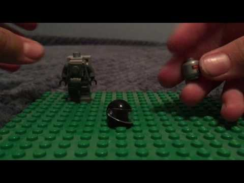 How to build a lego O.D.S.T. Minifigure + New Halo SMG