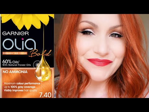 Garnier Olia Bold Intense Copper 7.40 // Dying My Hair Copper At Home