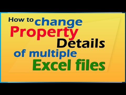 How to change detail of multiple excel files at once?