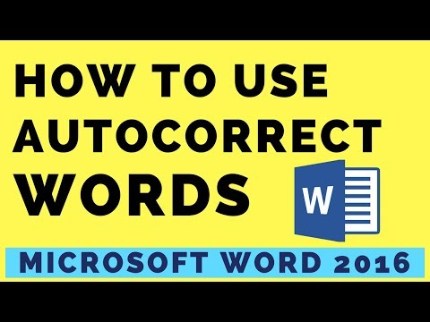 HOW TO USE AUTOCORRECT WORD IN MICROSOFT WORD 2016    AUTOCORRECT OPTIONS