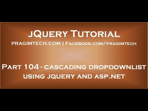 Cascading dropdownlist using jquery and asp net