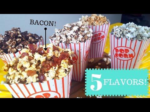 Flavored Popcorn 5 Ways! - La Cooquette