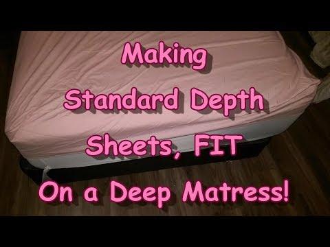 Making Standard Sheets Fit a DEEP Matress!