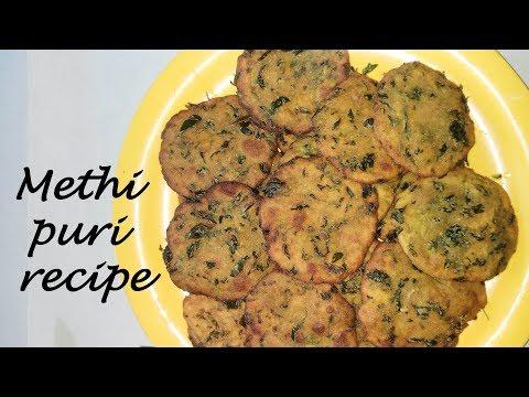 Methi puri recipe | Crispy Methi Masala Puri | fenugreek leaves Poori