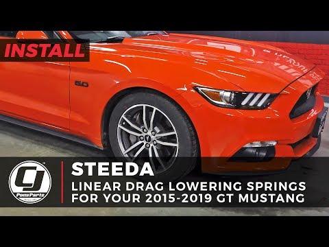 2015-2019 Mustang Install: Steeda Linear Drag Lowering Springs