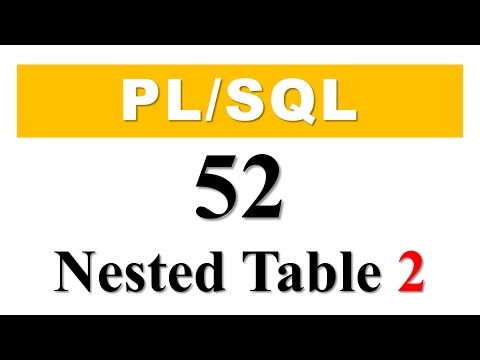 PL/SQL tutorial 52: How To Create Nested table as Database Object