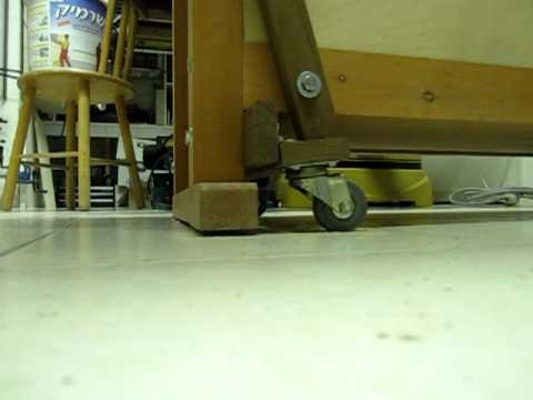 Workbench wheels lift mechanism