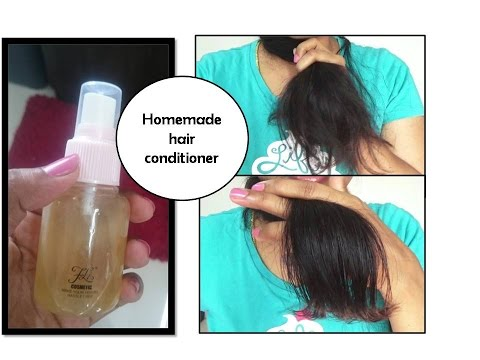 Homemade Leave in conditioner for Hair   soft, shiny frizz free hair
