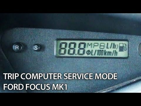 How to enter test menu and hidden settings in Ford Focus MK1 trip computer