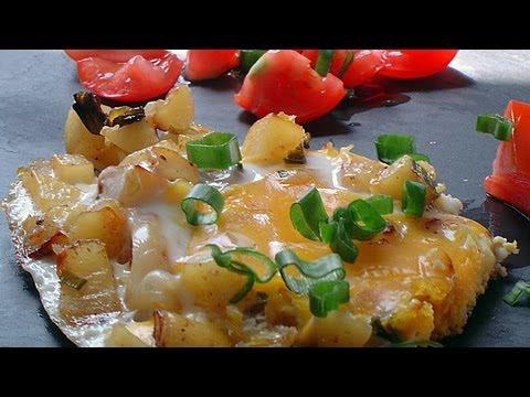 Simple recipe of Potatoe Omelet | French omelette pommes de terre