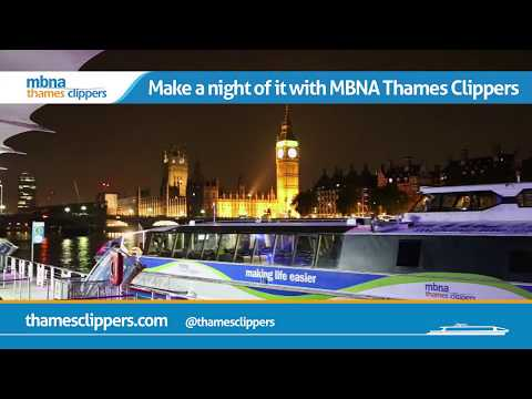 Get to The O2 in style | MBNA Thames Clippers