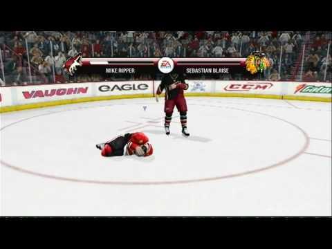 NHL 09 (PS3) - Krispy wins a fight