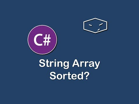 is string array sorted in c#