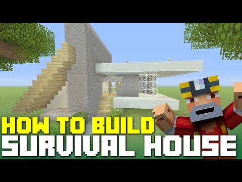 Minecraft Xbox 360/One: How to Build - Skyblock Survival House! (Simple Starter House)