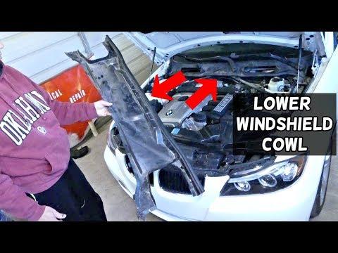 WINDSHIELD COWL TRIM REMOVAL BMW E90 E91 E92 E93