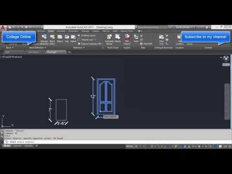 AutoCAD training online Scale Factor command Tutorial in english