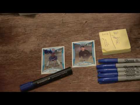 How to Erase an Autograph or a Name Inscription on a Glossy Baseball Card