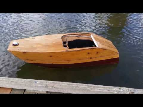 Plywood boat small electric inboard