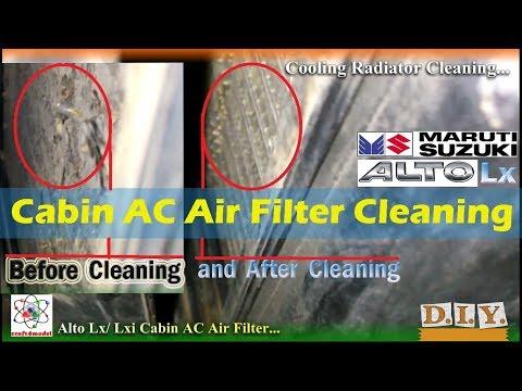 Maruti Suzuki Alto Lx Cabin AC Air Filter Cleaning