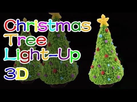 How to Make Light-Up Christmas Tree/Holiday Christmas - 3D Printing Pen Creations/DIY Tutorial