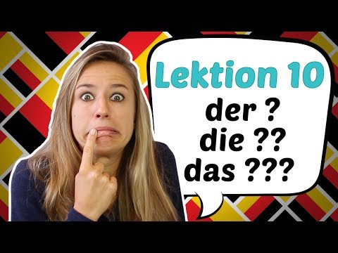 GERMAN LESSON 10: Awesome Hints on how to Guess German Articles 😎😎