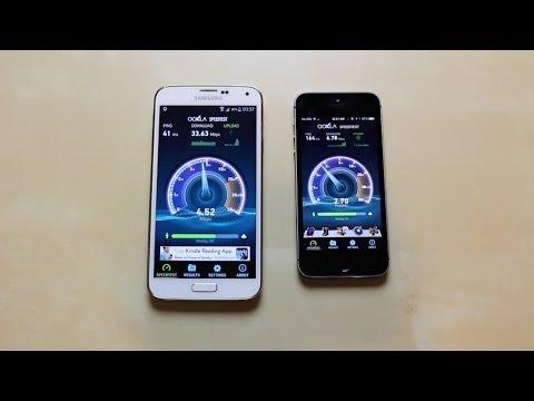 Galaxy S5 vs iPhone 5S - Speed Test