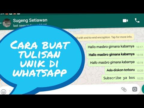 cara membuat tulisan unik di whatsapp keren