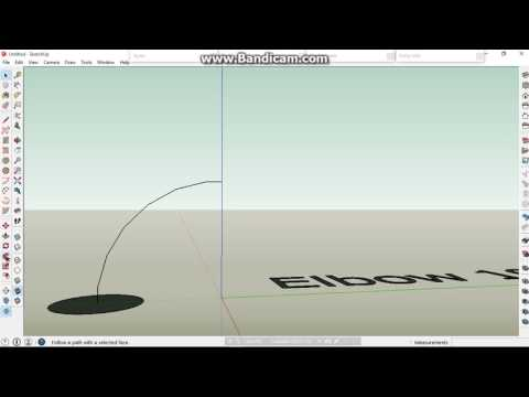 Sketchup Cutting pipe to Elbow