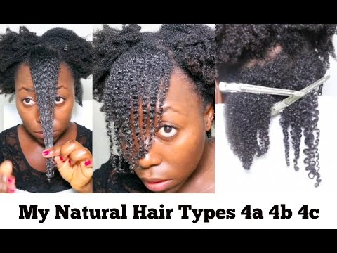 My Natural Hair Curl Pattern Kinky Coily Hair Type 4C 4B 4A with Lot of Shrinkage