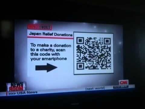 CNN using a QR code on live TV
