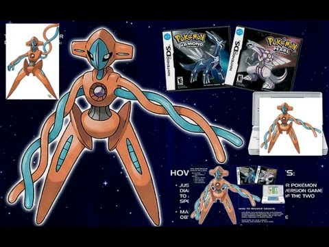 Obtener a Deoxys de evento Legal - Pokemon Heart Gold , Soul Silver, Perla , Platino y Diamante